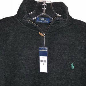 New! Men's Polo Ralph Lauren Sweater in dark gray